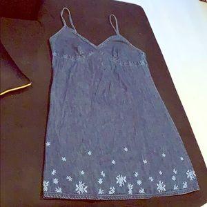 J Crew Denim Spaghetti Strap Dress